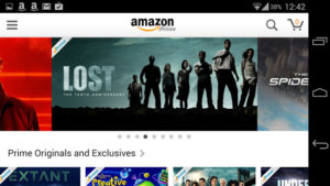 Watch Amazon Prime Instant Video on Android, through the Amazon shop app