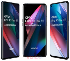 Oppo Find X3 series leaks in detailed images: X3 Pro, X3 Neo and X3 Lite