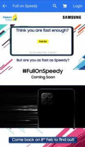 New Samsung Galaxy F series smartphone with quad camera teased by Flipkart