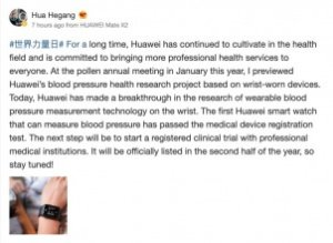 Huawei smartwatch with blood pressure measurement coming in H2