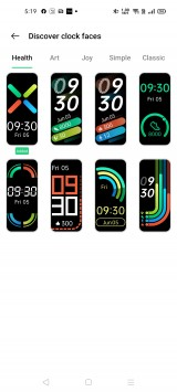 Watch faces available on the HeyTap Health app