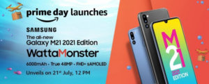 Samsung Galaxy M21 2021 Edition is arriving on July 21, design and specs revealed