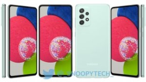 Samsung Galaxy A52s 5G smiles for the camera in leaked renders